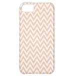 Trendy chic apricot chevron zigzag pattern iPhone 5C cover