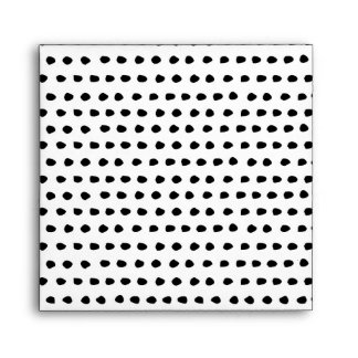 Trendy Chic Black and White Dots Pattern Envelope