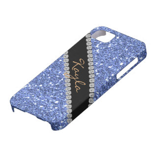 TRENDY CHIC BLUE CRYSTAL BLING  I phone 5 COVER