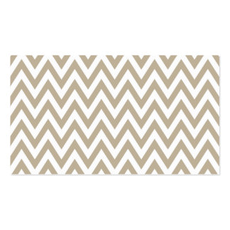 Trendy chic brown gray chevron zigzag pattern business card template