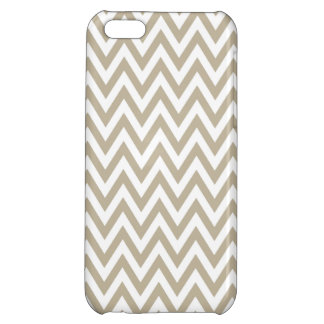 Trendy chic brown gray chevron zigzag pattern iPhone 5C cases