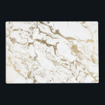 "Trendy chic faux gold white marble pattern placemat<br><div class=""desc"">A cool,  original and modern faux  gold foil and white marble pattern. A chic and elegant design with a luxurious touch.</div>"
