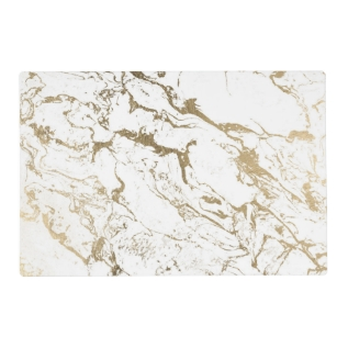 Trendy Chic Faux Gold White Marble Pattern Placemat at Zazzle