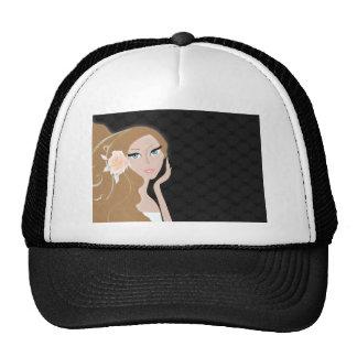 trendy chic girly fashionista bridal shower trucker hat