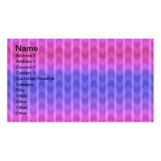 Trendy Chic Girly Pink Blue Zigzag Stripes Patter Business Card