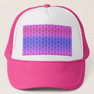 Trendy Chic Girly Pink Blue Zigzag Stripes Pattern Trucker Hat