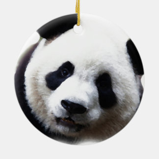 Trendy Chic Panda Christmas Tree Ornament