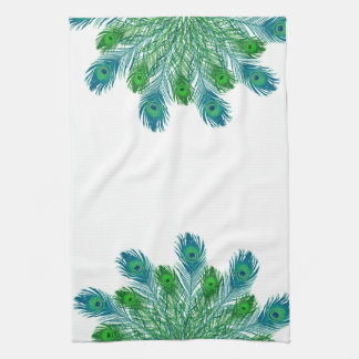 Trendy Chic Peacock Feathers Hand Towel