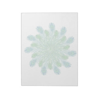 Trendy Chic Peacock Feathers Notepad