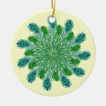 Trendy Chic Peacock Feathers Ornament