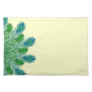 Trendy Chic Peacock Feathers Placemat