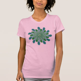 Trendy Chic Peacock Feathers Tee Shirts