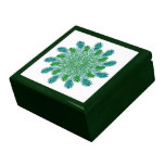 Trendy Chic Peacock Feathers Trinket Boxes