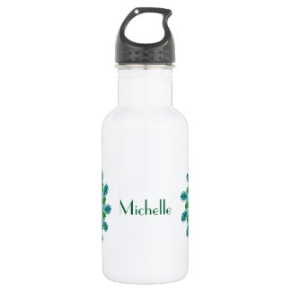 Trendy Chic Peacock Feathers Water Bottle