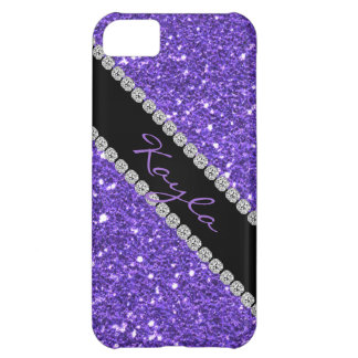 TRENDY CHIC PURPLE CRYSTAL BLING  I phone 5 COVER Case For iPhone 5C