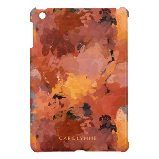 Trendy Chic Terracotta Rust Abstract Case For The iPad Mini