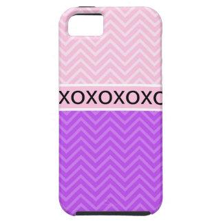 Trendy Chic XOXO Chevron Pink iPhone 5 Case