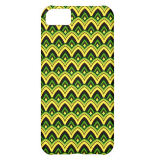 Trendy Chinese Dragon Scale Scallop ZigZag Pattern Case For iPhone 5C