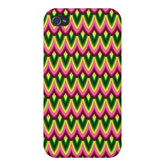 Trendy Chinese Dragon Scale Scallop ZigZag Pattern iPhone 4/4S Cases