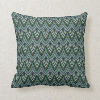 Trendy Chinese Dragon Scale Scallop ZigZag Pattern Pillow