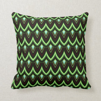 Trendy Chinese Dragon Scale Scallop ZigZag Pattern Throw Pillows