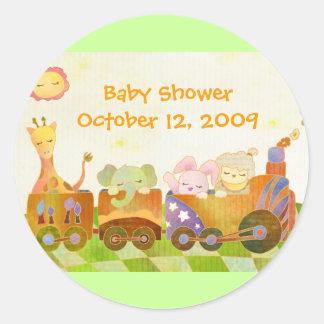 Trendy Choo Choo Train Baby Shower Stickers