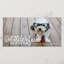 Trendy Christmas Photo Greeting Holiday Card
