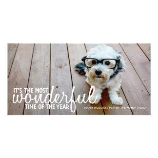 Trendy Christmas Photo Greeting Photo Card