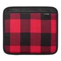 Trendy Christmas Red and Black Cozy Buffalo Plaid iPad Sleeves