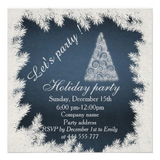 Trendy Christmas tree corporate holiday party Card