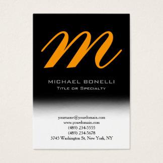 Trendy chubby black yellow monogram business card