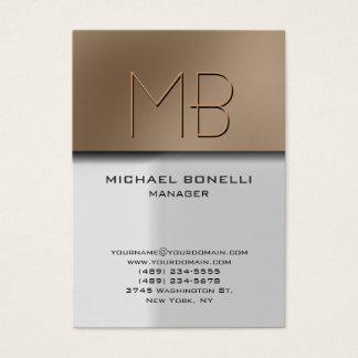 Trendy chubby grey beige stylish business card