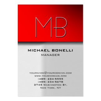 Trendy chubby grey red attractive business card chubby business cards