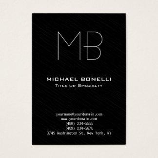 Trendy chubby modern black gray business card
