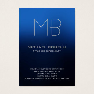 Trendy chubby modern blue background business card