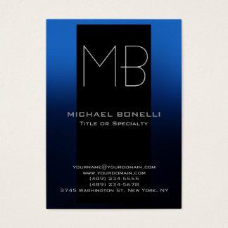 Trendy chubby modern blue black business card
