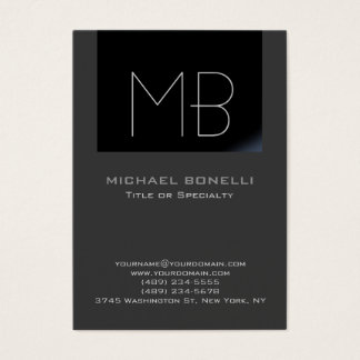 Trendy chubby modern grey background business card