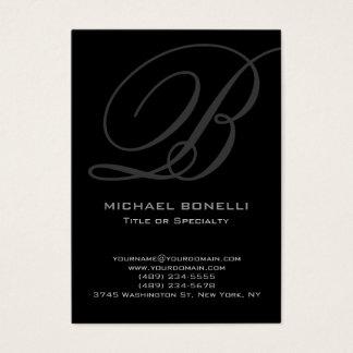 Trendy chubby modern grey black business card