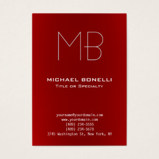Trendy chubby modern red background business card