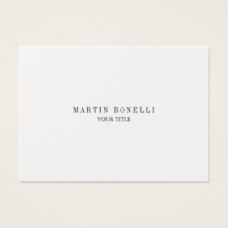 Trendy Chubby Professional Business Card