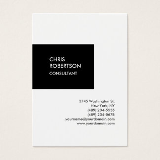 Trendy chubby vertical unique business card