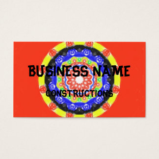 Trendy circle pattern business card