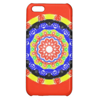 Trendy circle pattern cover for iPhone 5C