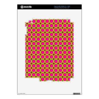 Trendy circle pattern decal for iPad 2