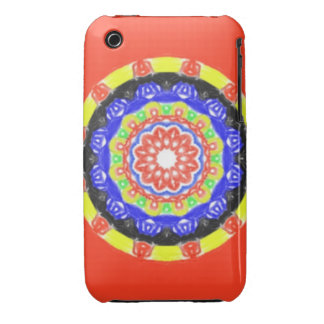 Trendy circle pattern iPhone 3 Case-Mate cases