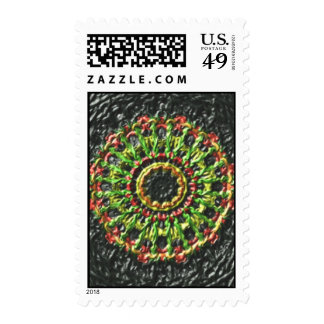 Trendy circle pattern postage