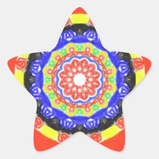 Trendy circle pattern star sticker