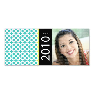 Trendy Circle Square Pattern: Blue & Chartreuse Card