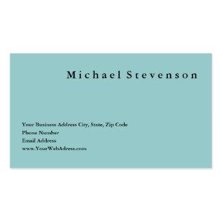 Trendy Clean Blue Simple Plain Business Card