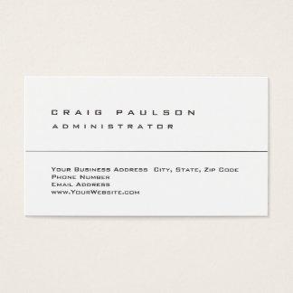 Trendy Clean Simple Stylish Plain Business Card